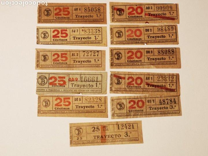 BILLETE TRANSPORTE, TRAMVIA, TRANVIA BARCELONA 11 BILLETES CAPICUA (Coleccionismo - Billetes de Transporte)