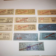 Coleccionismo Billetes de transporte: BILLETES TRANSPORTE TRAMVIA, TRANVIA BARCELONA. LOTE 13 BILLETES CAPICUA. Lote 176022379