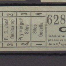 Coleccionismo Billetes de transporte: BILLETE CAPICUA 62826 VALENCIA TRANVIA. Lote 176180650