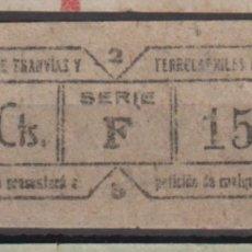 Coleccionismo Billetes de transporte: BILLETE CAPICUA 15451 VALENCIA TRANVIA. Lote 176180697
