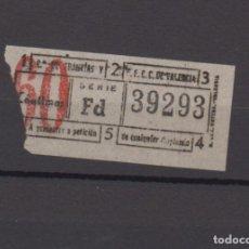 Coleccionismo Billetes de transporte: BILLETE CAPICUA 39293 VALENCIA TRANVIA. Lote 176180899