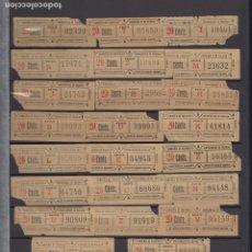 Coleccionismo Billetes de transporte: LOTE 23 BILLETE CAPICUA NUMERO DIFERENTE VALENCIA TRANVIA. Lote 176181477