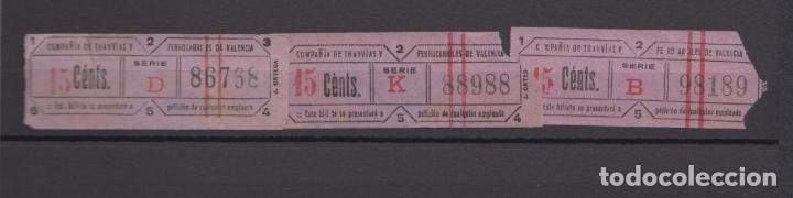 Coleccionismo Billetes de transporte: LOTE 33 BILLETE CAPICUA NUMERO DIFERENTE VALENCIA TRANVIA - Foto 2 - 176181524