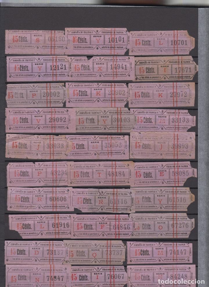 LOTE 33 BILLETE CAPICUA NUMERO DIFERENTE VALENCIA TRANVIA (Coleccionismo - Billetes de Transporte)