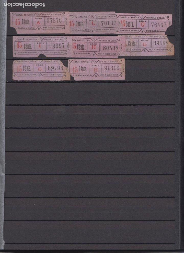 Coleccionismo Billetes de transporte: LOTE 38 BILLETE CAPICUA NUMERO DIFERENTE VALENCIA TRANVIA - Foto 2 - 176181574