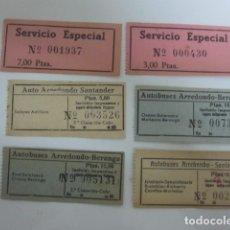 Coleccionismo Billetes de transporte: BILLETES BUS SANTANDER AÑOS 50. Lote 176779520