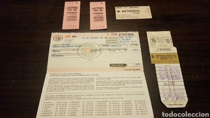 ANTIGUOS BILLETES TRANSPORTE (Coleccionismo - Billetes de Transporte)