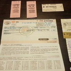 Coleccionismo Billetes de transporte: ANTIGUOS BILLETES TRANSPORTE. Lote 176833618