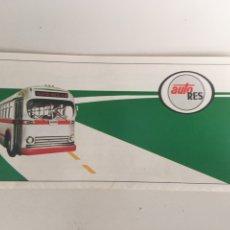 Coleccionismo Billetes de transporte: BILLETE DE AUTOBÚS AUTORES. Lote 176926244