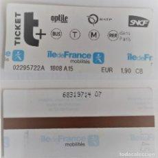 Coleccionismo Billetes de transporte: BILLETE DEL METRO DE PARIS. Lote 176978669