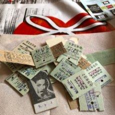 Coleccionismo Billetes de transporte: LOTE DE 28 BILLETES DE TREN, AUTOBUSES, METRO ETC. Lote 177040027