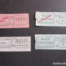 Coleccionismo Billetes de transporte: LOTE 4 BILLETES DIFERENTES TUSA BADALONA BARCELONA. Lote 177377782