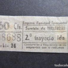 Coleccionismo Billetes de transporte: BILLETE CAPICUA 88688 EMT TROLEBUSES MADRID. Lote 177703847