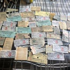 Coleccionismo Billetes de transporte: LOTE DE 50 BILLETES ANTIGUOS DE TRANSPORTE- VER LAS FOTOS. Lote 177727878
