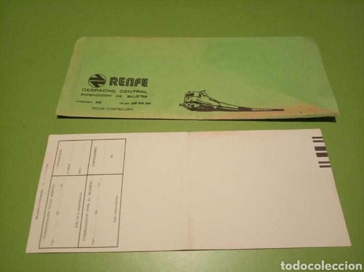 Coleccionismo Billetes de transporte: RENFE billete - Foto 4 - 177749404