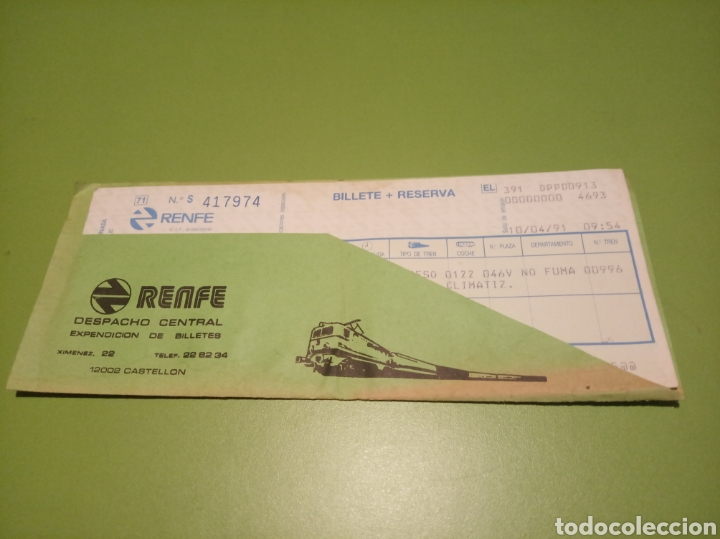 RENFE BILLETE (Coleccionismo - Billetes de Transporte)