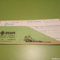 Coleccionismo Billetes de transporte: RENFE BILLETE. Lote 177749404