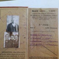 Coleccionismo Billetes de transporte: BILLETE KILOMÉTRICO 3ª CLASE AÑO 1943.. Lote 178239796