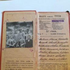 Coleccionismo Billetes de transporte: BILLETE KILOMÉTRICO 3ª CLASE AÑO 1935.. Lote 178240235