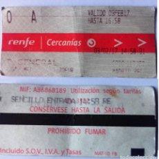 Coleccionismo Billetes de transporte: BILLETE CERCANÍAS RENFE. Lote 178713888