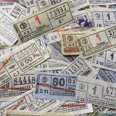 Coleccionismo Billetes de transporte: 97 BILLETES DE TRANSPORTE CAPICÚAS - BARCELONA - DE 80 CTS A 6 PTS. Lote 178871373