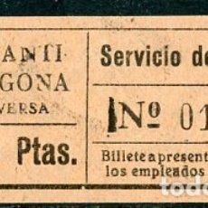 Coleccionismo Billetes de transporte: BILLETE DE SERVICIO DE OMNIBUS // CONSTANTI - TARRAGONA // Z60. Lote 178935948