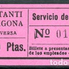 Coleccionismo Billetes de transporte: BILLETE DE SERVICIO DE OMNIBUS // CONSTANTI - TARRAGONA // Z60. Lote 178936015