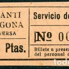 Coleccionismo Billetes de transporte: BILLETE DE SERVICIO DE OMNIBUS // CONSTANTI - TARRAGONA // Z60. Lote 178936283