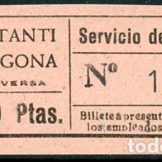 Coleccionismo Billetes de transporte: BILLETE DE SERVICIO DE OMNIBUS // CONSTANTI - TARRAGONA // Z60. Lote 178936321