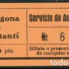 Coleccionismo Billetes de transporte: BILLETE DE SERVICIO DE AUTOMNIBUS // CONSTANTI - TARRAGONA // Z60. Lote 178936513