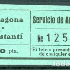 Coleccionismo Billetes de transporte: BILLETE DE SERVICIO DE AUTOMNIBUS // CONSTANTI - TARRAGONA // Z60. Lote 178936600