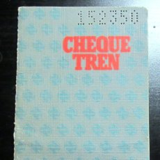 Coleccionismo Billetes de transporte: CHEQUETREN ABONO VIAJES RENFE CON SELLOS 1983 1984 FERROCARRIL AZUL. Lote 179113427