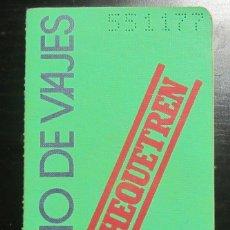 Coleccionismo Billetes de transporte: CHEQUETREN ABONO VIAJES RENFE CON SELLOS 1979 FERROCARRIL VERDE. Lote 179113642
