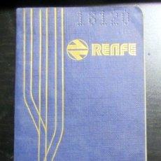 Coleccionismo Billetes de transporte: CARNET KILOMETRICO FAMILIA NUMEROSA RENFE CON SELLOS 1978 FERROCARRIL. Lote 179113730