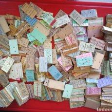Coleccionismo Billetes de transporte: LOTE DE 800 BILLETES DE TREN ANTIGUAS.. Lote 179230875