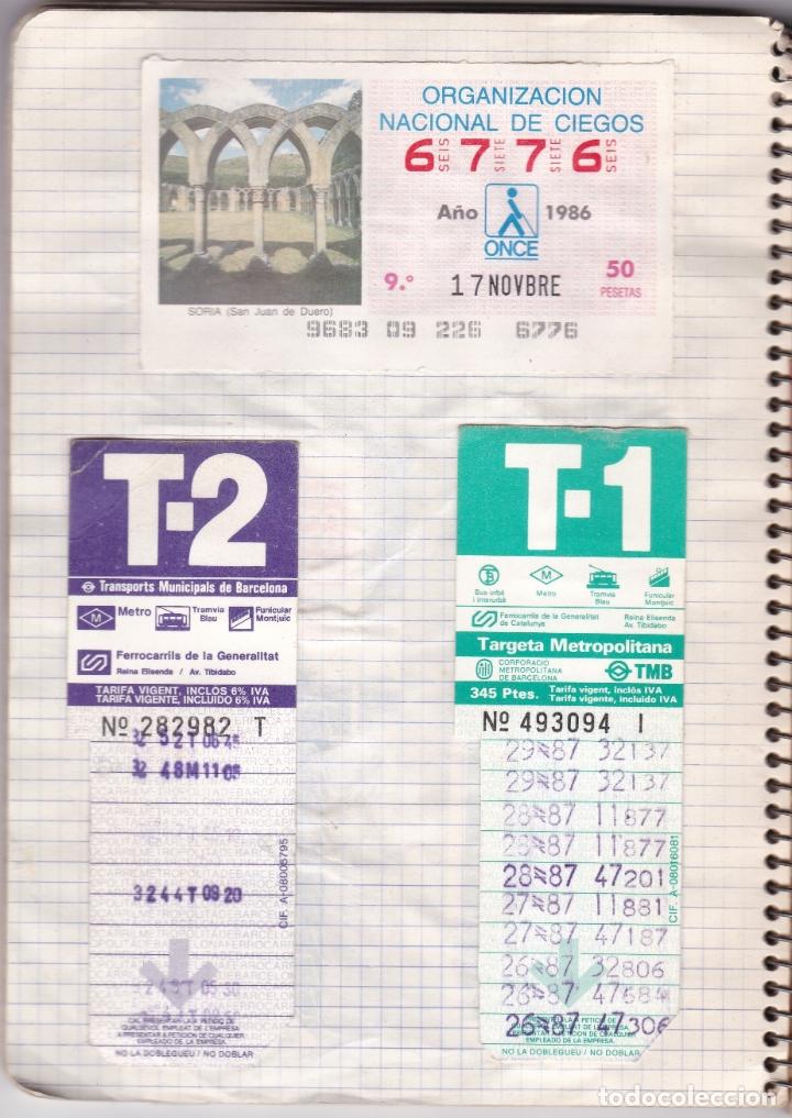 Coleccionismo Billetes de transporte: CAPICUAS - LIBRETA CON 186 BILLETES CAPICUAS DIFERENTES TRANSPORTES Y MÁS - FOTOS TODAS HOJAS - Foto 9 - 179380110
