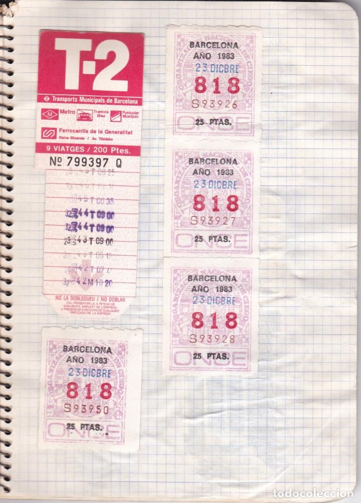 Coleccionismo Billetes de transporte: CAPICUAS - LIBRETA CON 186 BILLETES CAPICUAS DIFERENTES TRANSPORTES Y MÁS - FOTOS TODAS HOJAS - Foto 12 - 179380110