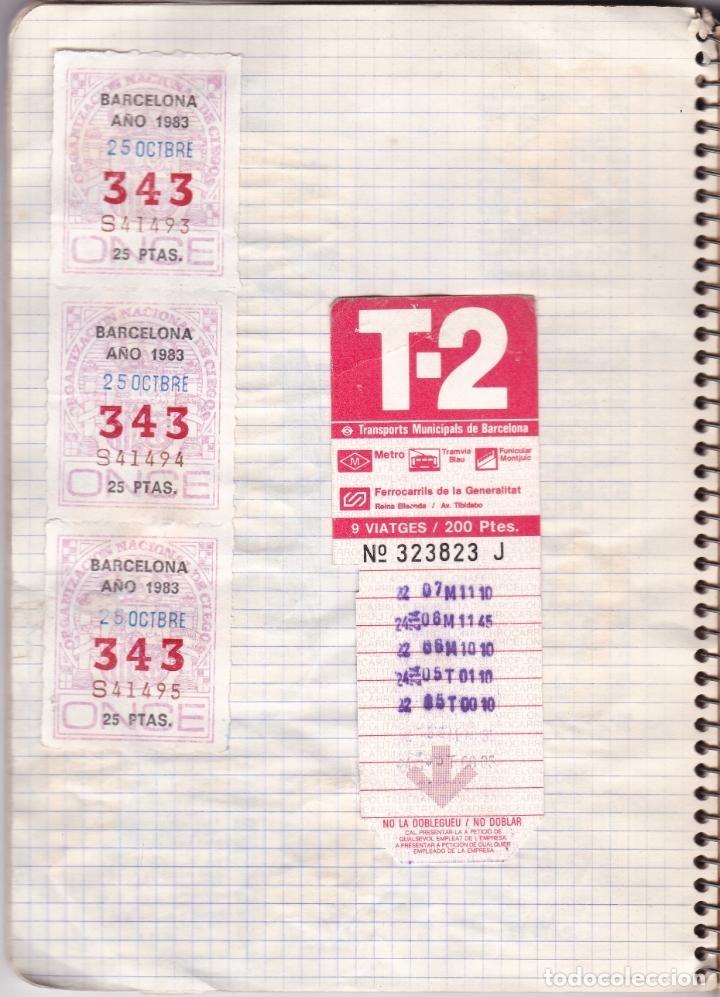 Coleccionismo Billetes de transporte: CAPICUAS - LIBRETA CON 186 BILLETES CAPICUAS DIFERENTES TRANSPORTES Y MÁS - FOTOS TODAS HOJAS - Foto 13 - 179380110