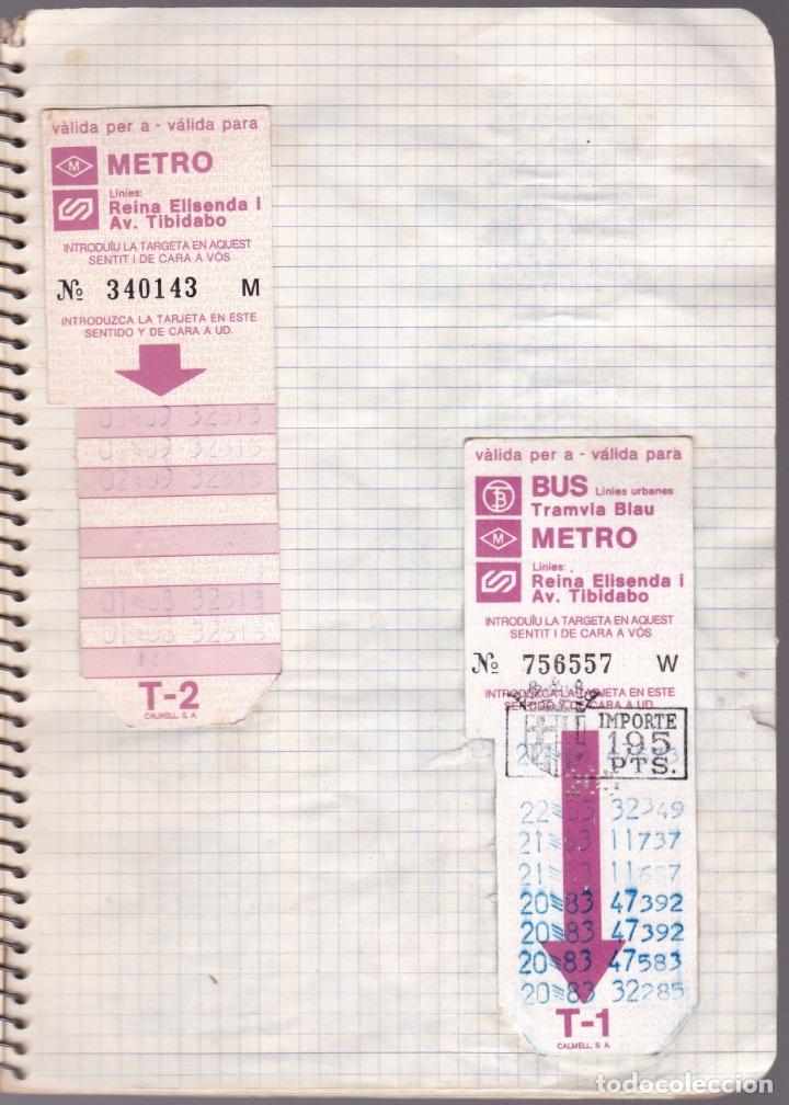 Coleccionismo Billetes de transporte: CAPICUAS - LIBRETA CON 186 BILLETES CAPICUAS DIFERENTES TRANSPORTES Y MÁS - FOTOS TODAS HOJAS - Foto 16 - 179380110