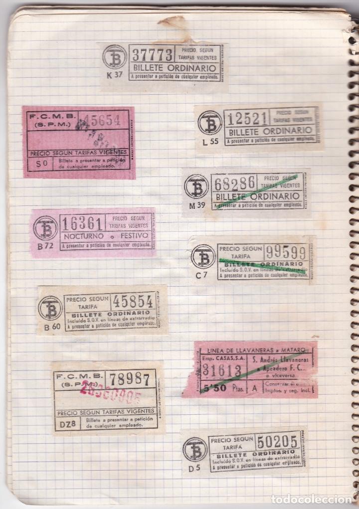 Coleccionismo Billetes de transporte: CAPICUAS - LIBRETA CON 186 BILLETES CAPICUAS DIFERENTES TRANSPORTES Y MÁS - FOTOS TODAS HOJAS - Foto 25 - 179380110