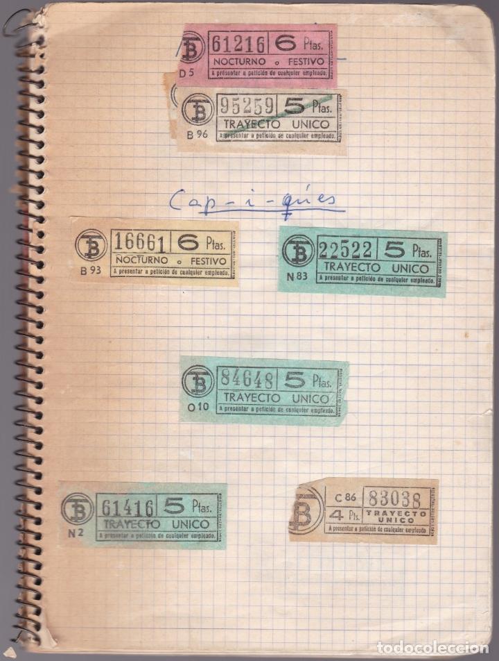 CAPICUAS - LIBRETA CON 186 BILLETES CAPICUAS DIFERENTES TRANSPORTES Y MÁS - FOTOS TODAS HOJAS (Coleccionismo - Billetes de Transporte)