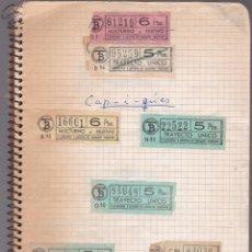 Coleccionismo Billetes de transporte: CAPICUAS - LIBRETA CON 186 BILLETES CAPICUAS DIFERENTES TRANSPORTES Y MÁS - FOTOS TODAS HOJAS. Lote 179380110