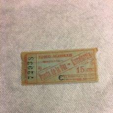 Coleccionismo Billetes de transporte: BILLETE DE VAPORES LAS GOLONDRINAS DE BARCELONA DE PUERTA DE LA PAZ A BARCELONETA. Lote 180014461