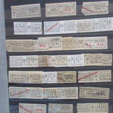 Coleccionismo Billetes de transporte: COLECCION 314 BILLETES CAPICUA NUMEROS DIFERENTES URBAS URBANIZACIONES Y TRANSPORTES LEER INTERIOR. Lote 180228570