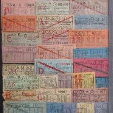 Coleccionismo Billetes de transporte: COLECCION 256 CAPICUA NUMERO DIFERENTE COMPAÑIA GENERAL AUTOBUSES CGA ACTUALIZADO - LEER INTERIOR. Lote 180229212