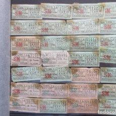 Coleccionismo Billetes de transporte: LOTE 28 BILLETE CAPICUA NUMEROS DIFERENTES AUTOBUSES FLORIDA. Lote 180231536