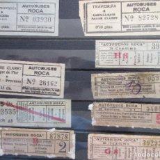 Coleccionismo Billetes de transporte: LOTE 9 BILLETE CAPICUA NUMEROS DIFERENTES AUTOBUSES ROCA. Lote 180231608