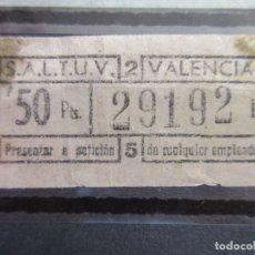 Coleccionismo Billetes de transporte: BILLETE CAPICUA 29192 VALENCIA SALTUV . Lote 180232047