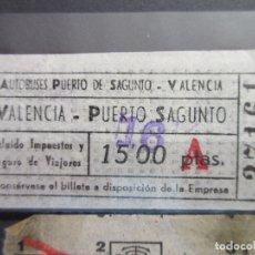 Coleccionismo Billetes de transporte: BILLETE AUTOBUSES PUERTO DE SAGUNTO VALENCIA. Lote 180232103