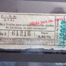 Coleccionismo Billetes de transporte: BILLETE CAPICUA 61216 METRO BARCELONA VALEDERO LINEAS VER SELLO. Lote 180232413
